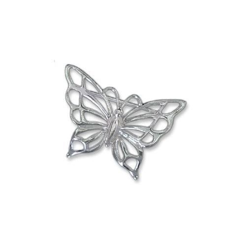 Sterling Silver Butterfly Pin - Sterling Silver Butterfly Brooch Pin