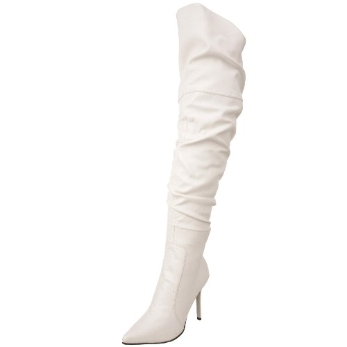 The Highest Heel Women's Rampage-11 Thigh-High Boot - Whi...