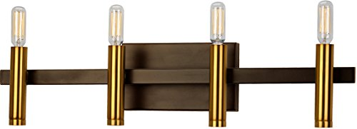 Bradford Bathroom Vanity Light (Luxury Modern Bathroom Vanity Light, Large Size: 5.1875