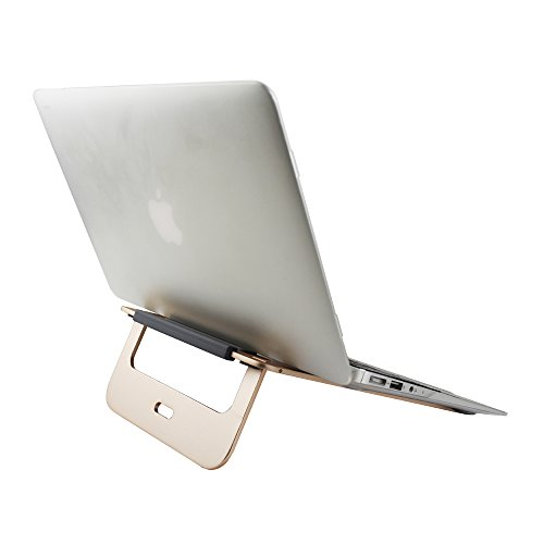 COOSKIN® Lightweight & Portable Aluminum Laptop Stand - Notebook Stand for Apple Macbook Air, Pro, iPad Tablet, Chromebook, PC ( Gold ) by COOSKIN (Image #5)