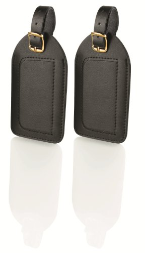 Travel Smart Large Leather Luggage Tags (Pack of 2)