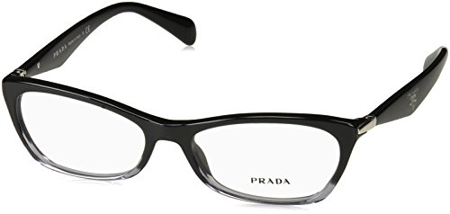 Prada PR15PV ZYY/1O1 Eyeglasses, Black Gradient Transparent, 53mm (Eye Prada Frames Glasses Cat)