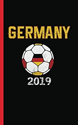 "Germany Flag Soccer Ball Journal - Notebook: Patriotic German DIY Writing Note Book - 100 Lined Pages + 8 Blank Sheets, Small Travel Size 5x8"" (Soccer Gear Gifts Vol 3)"