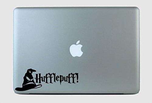 SimplyVinylized Harry Potter Inspired Hufflepuff! Sorting Hat Vinyl Decal Sticker Black