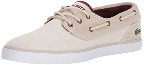 Lacoste Men Jouer Deck Sneaker Natural Canvas