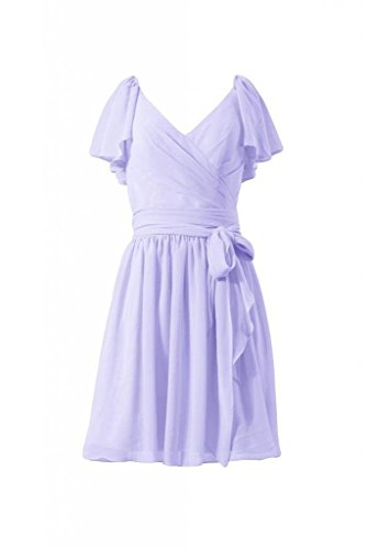 DaisyFormals lavender Bridesmaid Vintage Party Dress Dress Short BM1662 7 Chiffon Modest rZq1rv