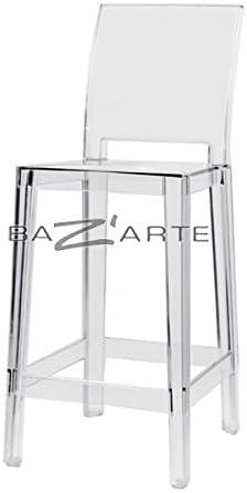 Kartell Sgabello Da Bar One More Please H75 Cm Schienale Quadrato Cristallo Amazon It Casa E Cucina