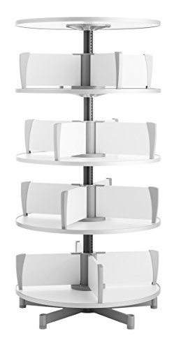 Carousel Binder Rotary (Moll Deluxe Binder & File Carousel Shelving with Four Tier, White (CL4-80))