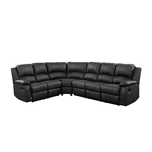 Corner Recliner Sofa Ebay: Large Victorian Bonded Leather Reclining Corner Sectional