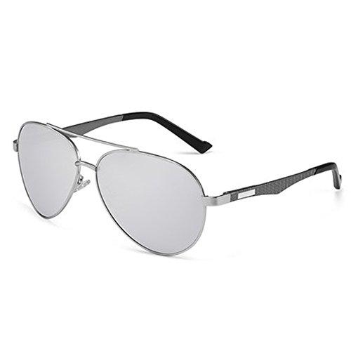 hommes soleil Hommes de lunettes Lunettes de personnalisés Miroirs verres polarisés soleil B pilote de miroir coréens pour lunettes conduite px7Zwq