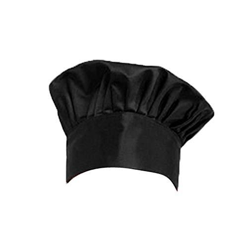 - Yu2d  Fashion Baker Chef Adjustable Catering Elastic Kitchen Cook Hat Men Cap(Black)