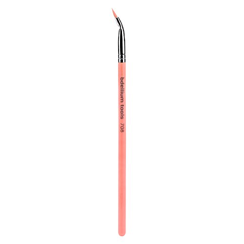 Eyeliner Bent (Bdellium Tools Professional Eco-Friendly Makeup Brush Pink Bambu Series - Bent Eyeliner 708)