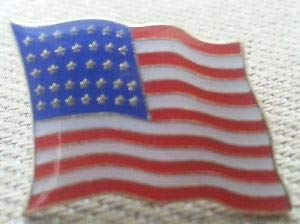 (Pin for Hats - 35 Star U.S. Flag Lapel PIN HAT TAC New - Decoration for Clothes)
