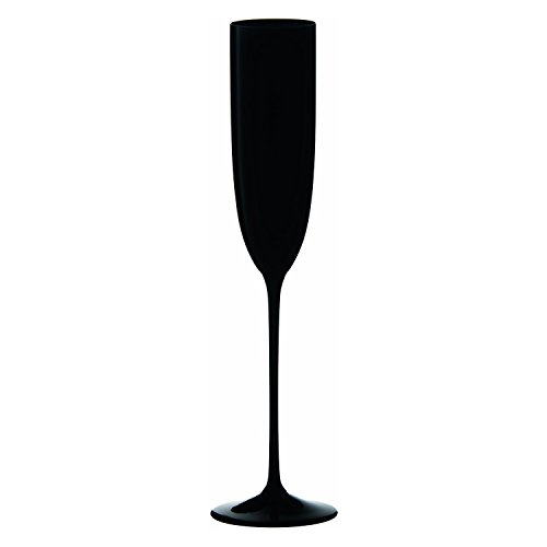 (Riedel Sommeliers Series Collector's Edition Crystal Single Stem Champagne Flute, Black)