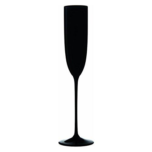 Stem Black Flutes (Riedel Sommeliers Series Collector's Edition Crystal Single Stem Champagne Flute, Black)