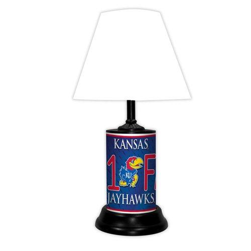 Kansas Jayhawks NCAA #1 Fan Team Logo License Plate made Desk Lamp with (Kansas Jayhawks Desk Lamp)