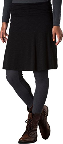 Toad&Co Women's Chaka Skirt, Black, SM (US 4-6) (Horny Toad Dress)