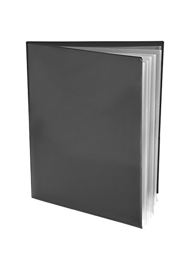 Ultra Pro - 10 Pack, BLACK 2-Pocket Folders with Clear Outside Pockets and 6 Pages