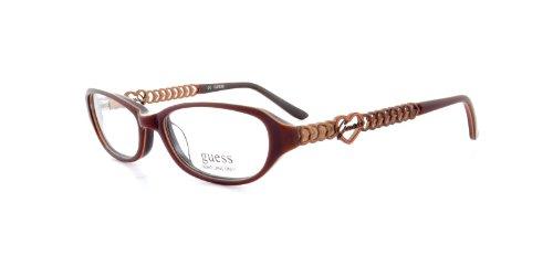 Guess Brown Eyeglasses - Guess GU 9049 Eyeglasses Womens Brown Plastic Rectangle