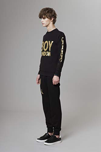 BOY LONDON Silver Chain Printed on Sleeves Sweatshirt-Black-Gold, Medium - BG4TL021 by BOY LONDON (Image #1)