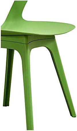 Restaurant Moderne Minimaliste Chaise Loisirs, Mode Chaise De Bureau Dossier, Stable Et Durable Chaise Lazy Chaise De Salle,Vert