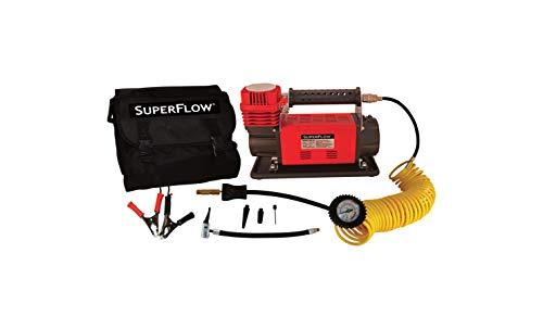 SuperFlow 12V HD Premium Air Compressor for Larger Trucks Tires, SUVs, RVs & Tractors