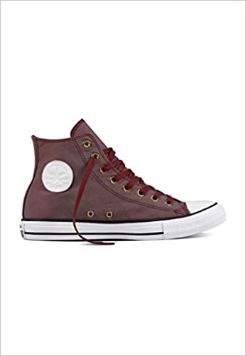 Hi Star All Bordeauxwhite Libros es Calzado Amazon Converse ZTBx5qw6T