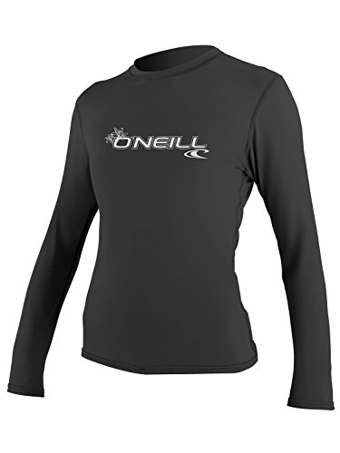 O'Neill Women's Basic Skins Upf 50+ Long Sleeve Sun Shirt, Black, ()