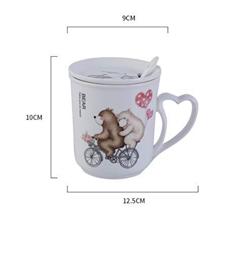 Amazon.com: Juego de taza y cuchara de cerámica 3D con forma ...