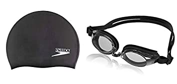 b1c1c9bceb4 Image Unavailable. Image not available for. Colour  SPEEDO Silicone  Swimming Cap Solid and Sporti Antifog Plus Goggles Set
