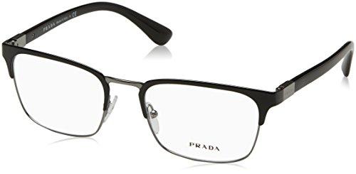 Prada PR54TV Eyeglass Frames 1AB1O1-53 - Black - Glasses Prada Mens