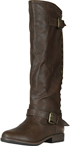 BAMBOO Women's Montage-83 Brown Boots 8.5 D(M) US ()