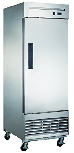 Dukers D28F 17.7 cu. ft. Single Door Commercial Freezer in Stainless Steel from Dukers Appliance USA