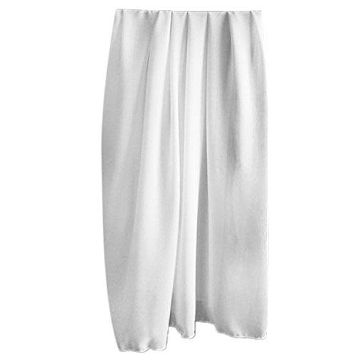 Women Lady Girls Solid Color Beach Scarf Bikini Coverups Sarong Swimsuit Wrap Swimwear Dress White
