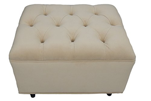 Fun Furnishings Tres Chic Ottoman, Buckwheat by Fun Furnishings