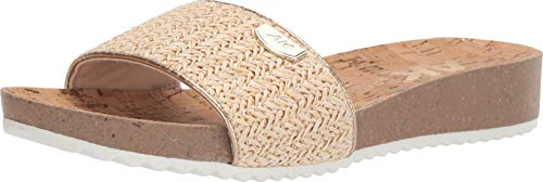 - Anne Klein AK Sport Women's Qtee Flat Slide Sandal, Natural, 9.5 M US