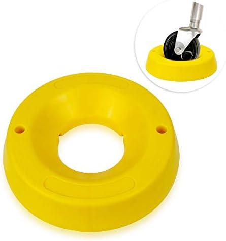 Zone Tech トレーラージャックホイールドック – プレミアム品質 高耐久 可視性 イエロー 旅行 ドーナツチョック トレーラー用トングジャックホイール用 – 車輪の移動や泥への沈みを防止