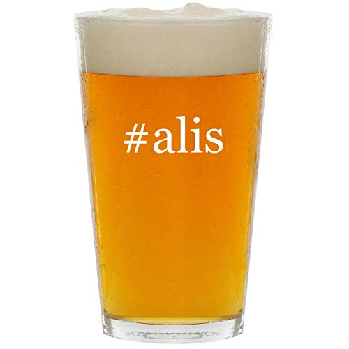 #alis - Glass Hashtag 16oz Beer Pint