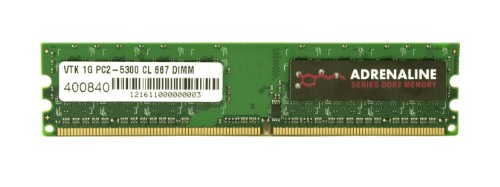 VisionTek 1GB DDR2 800 MHz (PC2-6400) CL5 DIMM, Desktop Memory - 900433 (22' Rock Kit)