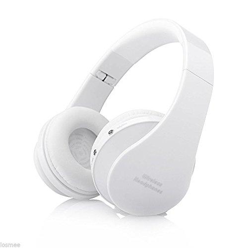 Foldable Wireless Stereo Bluetooth Headphone Earphone Headset For iPhone Samsung - WHITE