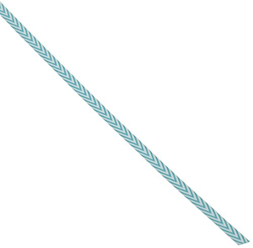 May Arts Twill Chevron Stripes Ribbon, 0.25-Inch by 50-Yard, Turquoise - May Arts Chevron Stripe