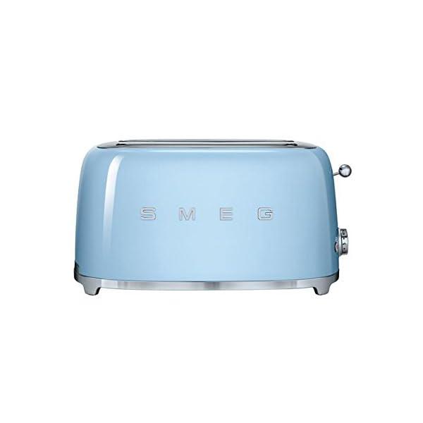 Smeg TSF02PBUS 50's Retro Style Aesthetic 4 Slice Toaster, Pastel Blue 1