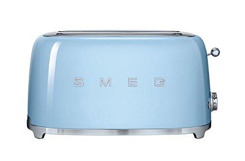 Smeg-TSF02PBUS-50s-Retro-Style-Aesthetic-4-Slice-Toaster-Pastel-Blue