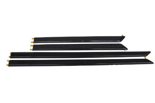 4 Piece Genuine Toyota Accessories PU060-33012-P1 Black Mud Guard