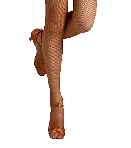 Bartolini Women Fine Soft Fabric Professional Dance Fishnet Tight Stocking (Medium, Tan)