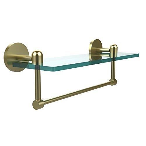 Allied Brass TA-1TB/16-SBR Glass Shelf with Towel Bar 16-Inch x 5-Inch [並行輸入品] B078XLSJFB
