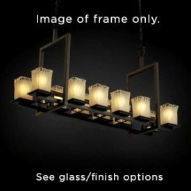 Justice Design CNDL-8620-15-CREM-DBRZ CandleAria - Seventeen Light Montana Short Chandelier, Glass Options: CREM: Cream Shade, Choose Finish: Dark Bronze Finish, Choose Lamping Option: Standard Lamping - Candlearia Chandelier