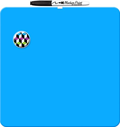 Board Dudes 11.5″x11.5″ Magnetic Dry Erase Tile, Styles/Colors May Vary (Erase Dry Squares)