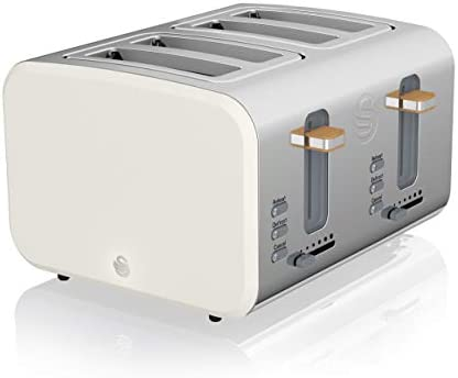 Swan 4 Slice Nordic Toaster Tostador (4 rebanada(s), Blanco, Acero ...