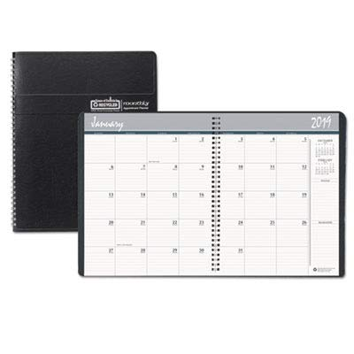 House of Doolittle 26802 Ruled Monthly Planner w/Expense Log, Dec.-Jan., 6-7/8 x 8-3/4, Black, 2018 (Book Appointment House Refill Doolittle Of)